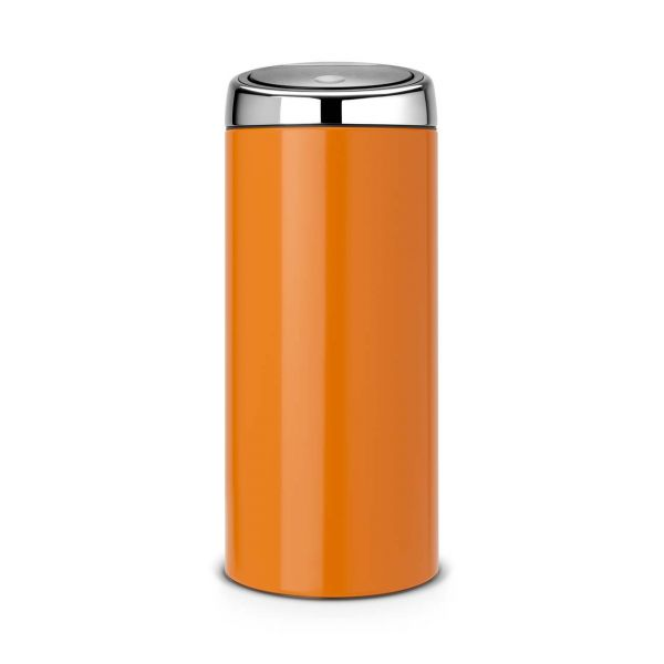 Brabantia Touch Bin Chroom.Brabantia Touch Bin 30l Chrome Orange