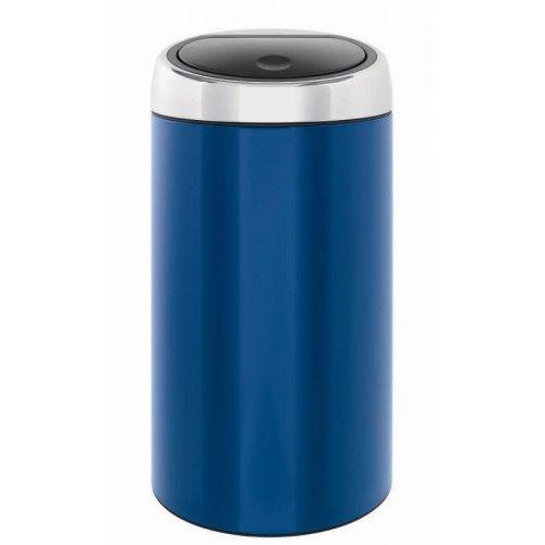 Touch Bin 45 Liter.Brabantia Touch Bin 45 Litre Blue
