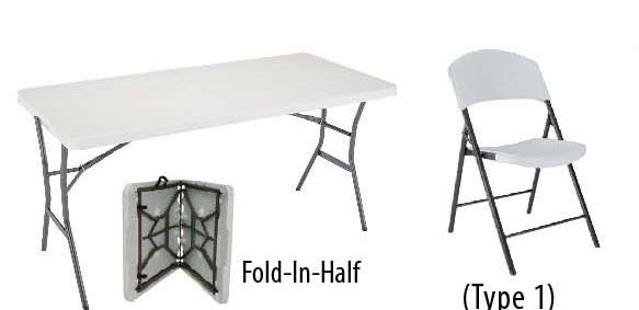 Cool Lifetime Package A2 5 Rectangular Fold In Half In Half Table Chairs Download Free Architecture Designs Rallybritishbridgeorg